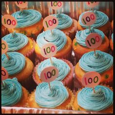100th day of school cupcakes