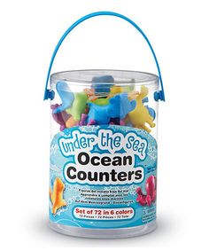 Another great find on #zulily! Ocean Counter Animal Figure Set #zulilyfinds