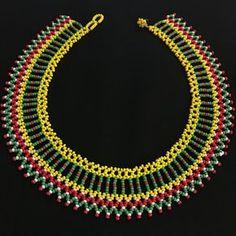 Collar de abalorios / Mandala de cuentas americano nativo / trabajo / /Colombian Embera collar perlas / Cuellos Embera