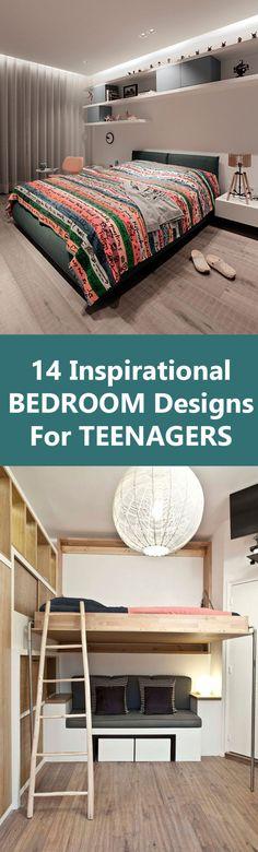 14 Inspirational Bedrooms For Teenagers Large Bedroom, Teen Bedroom, Best Duvet Covers, Kids Bedroom Furniture, Diy Bed, How To Make Bed, Interiores Design, Bed Design, Room Interior