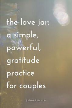 Love jar note ideas + things to write in a love jar. Beautiful gratitude practice for couples that also makes a great anniversary gift idea. Gratitude Jar, Practice Gratitude, Gratitude Quotes, Attitude Of Gratitude, Gratitude Ideas, Gratitude Journals, Grateful Quotes, Appreciation Note, Love Jar
