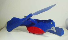 Blue Bird Whirligig Whirly Gig Garden Stake Yard Decoration