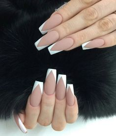 Long Square Acrylic Nails Nail Designs White Tip