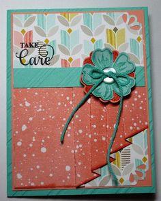 Take Care card by Melanie.... pleated skirt fold
