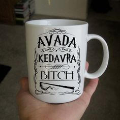Avada Kedavra Bitch Harry Potter mug white mug Custom por marmug