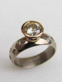 Contemporary jewellery,mens wedding rings,christchurch jeweller,custom made rings in gold,diamonds | Debra Fallowfield