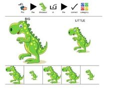 Dinosaur Sort By Size: File+Folder+Game+where+children+are+asked+to+sort+the+dinosaurs+by+size.+