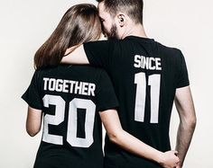 Together Since Shirts Couple Shirts Couples shirts by EpicTees4You