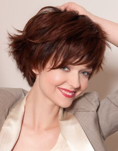 Youthful short hairstyle with a steeply graduated neck