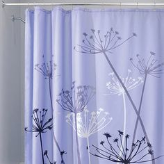 InterDesign Thistle Shower Curtainn   Purple Gray Would love to have these  as curtains for the closet Modern Shower Curtain   Blue and Gray Shower Curtains   Home  . Grey And Purple Shower Curtain. Home Design Ideas