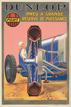 Vintage Prints, Vintage Posters, Vintage Cars, Art Deco Illustration, Commercial Vehicle, Tool Design, Motor Car, Grand Prix, Illustrations Posters