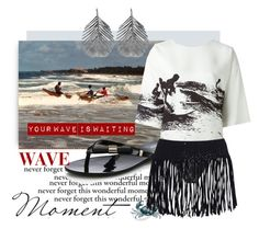 """""""Your wave is waiting..."""" by rinagern ❤ liked on Polyvore featuring Melissa, Alex Monroe, Victoria Beckham, Melissa Odabash, Traits and Topshop"""