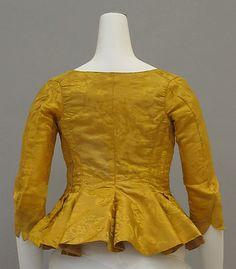 Jacket 1770, British, Made of silk