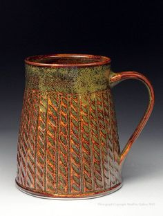 Dyann Myers ceramics, pottery for sale at MudFire Gallery for clay Slab Pottery, Pottery Wheel, Pottery Mugs, Ceramic Pottery, Pottery Art, Pottery Ideas, Pottery Tools, Pottery Designs, Ceramic Cups