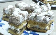Retete Culinare - Prajitura cu crema de ciocolata si frisca