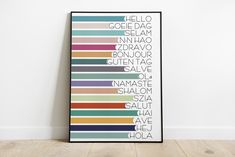 Hello in different languages, Prints Greetings, Large Poster Decor, Hello ,ola, Ave, Salut, Printable Wall Art, Digital Download Face Line Drawing, Different Languages, Neutral Walls, Alphabet Print, Types Of Printer, Large Wall Art, Printable Wall Art, Boho Decor, Wall Art Prints