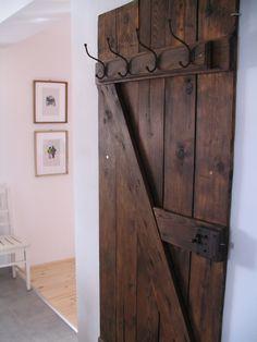 Vintage door coat rack