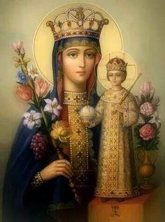 Jesus Mother, Blessed Mother, Mother Mary, Jesus Christ Images, Jesus Art, Religious Photos, Religious Art, Catholic Art, Catholic Saints