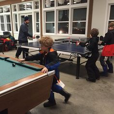Taking some time to play in the Nordic Village Resort game room before we head for the pools. #JFFTravel #JFFHosted #FamilyTravel #NH #gameroom  #pool #billiards #pingpong