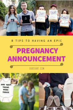 Need some ideas for having an epic pregnancy announcement? Look no further! We've got you covered. Here you will find 8 tips for having the pregnancy announcement of your dreams. So what are you waiting for? Give one of these ideas a try! Pregnancy Exercise First Trimester, Third Trimester Workout, Pregnancy Workout, Pregnancy Announcement Template, Pregnancy Announcement To Husband, Happy Pregnancy, Pregnancy Goals, Pregnancy Belly, Pregnancy Hospital Bag