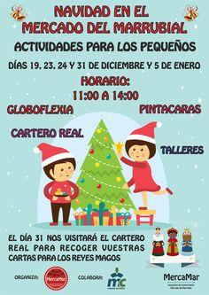 Cartel promoción asociación MercaMar Navidad 2015