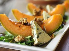 lisa is cooking: Melon with Blue Cheese and Black Pepper- perfect for a summer gathering