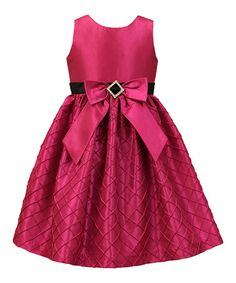 Look at this #zulilyfind! Fuchsia Quilted A-Line Dress - Toddler & Girls #zulilyfinds