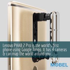 Lenovo #PHAB2 worlds first phone using #Google #Tango with 4 cameras can map the world around you #LenovoTechWorld