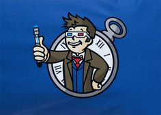 Dr.Who Parody Fallout vault 111 boy david tennant tee t-shirt