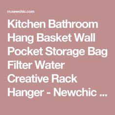 Kitchen Bathroom Hang Basket Wall Pocket Storage Bag Filter Water Creative Rack Hanger - Newchic Mobile version.