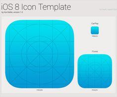 iOS 8 Icon Template PSD