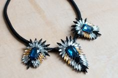 DIY statement necklace l