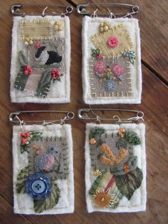 Stitch An Inch Spring Ornis counted cross by ByTheBayNeedleart