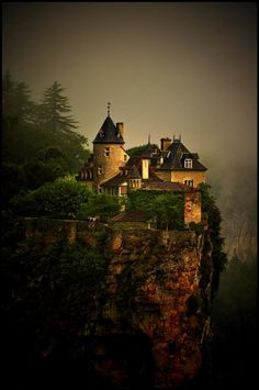 Name of the Castle : Treyne    Situation : overhanging the Dordogne, near Lacave, village between Rocamadour and Souillac. (South West of France).    Age : XIVth and XVIIth century    Now it's a hotel complex, somekind expensive but can be nice place for weddings.