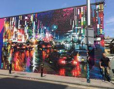 Street Art by DanKitchener in Hanbury St, Brick Lane -  London