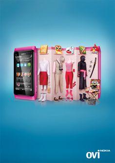 banking ads Nokia Ovi Apps by Sonny Tjahjadi, via Behance Creative Flyers, Ads Creative, Creative Advertising, Creative Design, Graphic Design Posters, Graphic Design Inspiration, Banks Ads, Advertising Design, Mobile Advertising