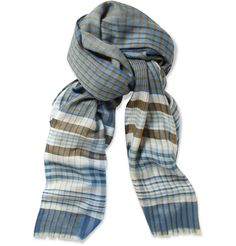 This cashmere & silk-blend plaid scarf from Loro Piana is perfect for tactile Taurus - £470.83