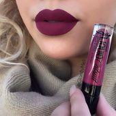 """""""Berry Recognize"""" Megalast Liquid Catsuit Matte Lipstick by Wet n' Wild: I love this plum color Lip Make up Pretty Makeup, Love Makeup, Beauty Makeup, Makeup Tips, Makeup Ideas, Beauty Tips, Makeup Stuff, Gorgeous Makeup, Beauty Secrets"""