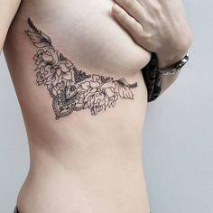 Sexy Underboob Tattoo Ideas - 54 Under Breast Tattoos 2017