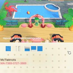 Animal Crossing 3ds, Animal Crossing Qr Codes Clothes, Ac New Leaf, Motifs Animal, Like Animals, Outdoor Pool, Custom Design, Character Design, Coding