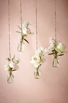 Hanging Bud Vases / Set of 4