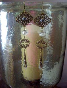 Steampunk ' I See You ' Crystal Eye Dangle Earrings £15.95