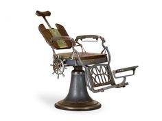 Friseurstuhl Barbierstuhl Frisör Stühle Metall Holz Retrodesign Antik Möbel neu in Antiquitäten & Kunst, Alte Berufe, Frisör & Barbier, Zubehör | eBay