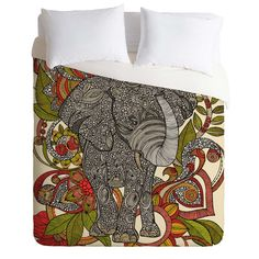Valentina Ramos Bo The Elephant Duvet Cover | DENY Designs Home Accessories