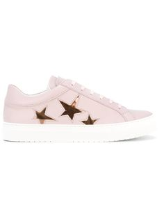 Nubikk - star print lace-up sneakers - women - Leather/rubber - 41, Pink/Purple