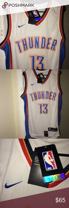 "Mens NWT Large Paul George Thunder Nike NBA Jersey Brand NWT Official Nike NBA Size Large ""Paul George, Thunder 23"" Basketball Jersey. Price firm! Nike Shirts Tank Tops"
