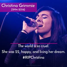 RIP Christina Grimmie    Another angel gone you shall never be forgotten....  #respect
