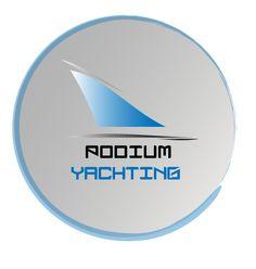 Podium Yachting logo for podiumyachting.com (sailing blog)