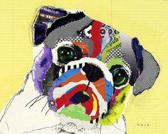 Les collages-chiens de Michel Keck