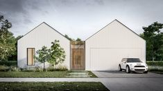 A Look At The Scandi House By Auhaus Architecture — LifeSpaces Group Luxury Homes Courtyard House, Facade House, House Facades, Gable House, Internal Courtyard, Construction, Home Builders, Modern Farmhouse, Modern Barn
